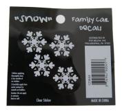 Snow - Loverly Christmas Holiday Family Car Window Vinyl Decal Sticker