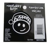 Boy - Loverly Christmas Holiday Family Car Window Vinyl Decal Sticker