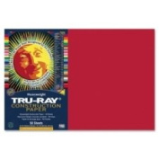 """Tru-Ray Construction Paper, 34kg., 12 x 18, Holiday Red, 50 Sheets/Pack"""