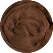 Merino Wool Roving for Felting - 30ml Brown