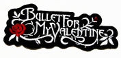 BULLET FOR MY VALENTINE Rose Logo Iron On Embroidered Patch WITH FREE GIFT