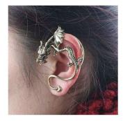 Buyinhouse Dragon Ear Wrap Cuff Earring Stud Earrings Punk Rock Left Ear