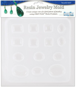 Yaley Resin Jewellery Reusable Plastic Mould 17cm by 18cm , Jewels 14 Assorted Shapes