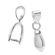 Beadalon Silver Plated 5mm Pinch Slider Bail For Gemstone & Crystal Pendants