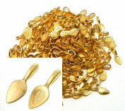 Rockin Beads Brand, 200 Glue on Bails Pendant Hanger Gold Tone Plated 21x8mm
