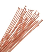 Beadaholique 50-Piece Head Pins, 22-Gauge, 5.1cm , Copper