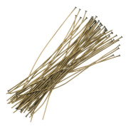 Beadaholique 50-Piece Head Pins, 24-Gauge, 5.1cm , Antiqued Brass