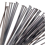 Black Plated Brass Head Pins 5.1cm / 21 Gauge