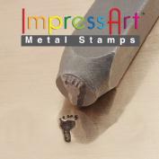 ImpressArt, Metal Jewellery Design Stamp, Foot Print Left, 9.5mm