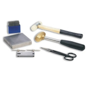 Metal Stamping Starter Kit With Letter Stamps, Mallet, Bench Block, Shears and Hole Punch