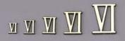 1.6cm Gold Roman Numerals - Set of 12