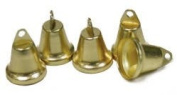 1.6cm Tiny Gold Metal Liberty Jingle Bells for Crafts and Favour Decorating - 72 Total