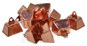 Package of 36 Copper Coloured Cowbells for Embellishing ,Crafting and Creating
