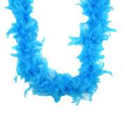 Touch of Nature 36gm Feather Turkey Flat Chandelle Boa for Crafting, Turquoise
