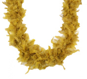 Touch of Nature 1-Piece 2-Yard Feather Turkey Flat Chandelle Boa for Arts and Crafts, 45gm, Gold