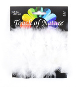 Touch of Nature 1-Piece Feather Marabou Craft Boa with Wire Centre for Arts and Crafts, 1-Yard, White
