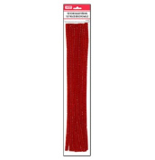 Lot of 48 Red Chenille Craft Stems 30cm Pipe Cleaners School Project