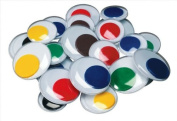 Chenille Kraft Jumbo Wiggle Eyes - Assorted Sizes - Pack of 100 - Assorted Colours