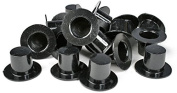 Bulk Package of 288 Very Miniature Black Acrylic Top Hats for Crafting, Embellishing and Creating