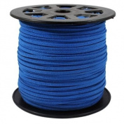BeadsTreasure Cornflower Blue Suede Cord Lace Leather Cord For Jewellery Making 3x1.5 mm-6.1m