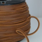 """Light Brown Leather Belting Lace 5mm (3/16"""") x 10m"""