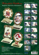 Ecstasy Crafts Christmas Easel Frame Card Kit (4) - Classic Christmas