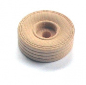 50 Wood 3.8cm Treaded Toy Wheels W/1/4 Hole