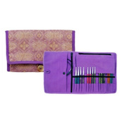 Knitter's Pride Violet Dream Interchangeable Needle Fabric Case 800124