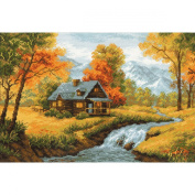 Riolis R1079 Counted Cross Stitch Kit, 38cm by 26cm , Autumn View