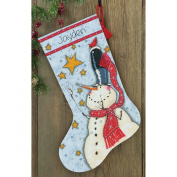 Dimensions Crafts Needlecrafts Counted Cross Stitch Stocking Kit, Tall Hat Snowman