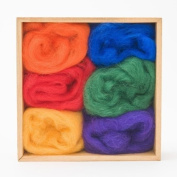 Wool Roving Rainbow Colours