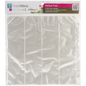 Totally-Tiffany SRSP-P59 Scrap Rack Basic Storage Page, Vertical Quad, 10-Pack