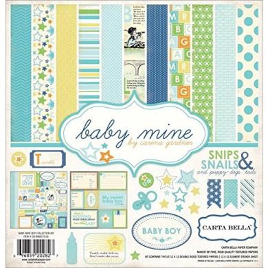 Carta Bella Paper Company Baby Mine Boy Collection Scrapbooking Kit