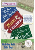 Anita Goodesign Projects Holiday Felt Gift Tags PROJ67