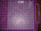 Bleeding Heart Medallion Quilting Stencil