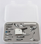SMB Always 15 pc Sewing Machine Presser/Walking Feet Kit for the Brother, Babylock, New Home, Janome, Elna, Toyata, Singer, Elna, Simplicity, Necchi, New Home, Kenmore, White