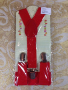 New Cute Kids Baby Red Suspenders Adjustable Fashion