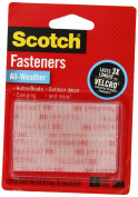 Scotch(R) All-Weather Fasteners, 2 Sets of 2.5cm x 7.6cm , Strips, Clear