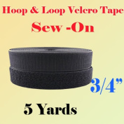 1.9cm (1.9cm ) Width Black or White Sew on Hook & Loop - Premium Grade Non-adhesive Sew-on Style Sold Includes Hook and Loop Both Side Interlocking Tape Sold By 5, 10, 27 Yards