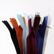 20pcs 23cm YKK assorted colour invisible zippers-Made in USA-