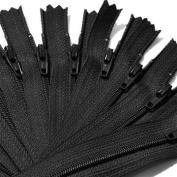 36cm Zipper YKK #3 Skirt & Dress ~ YKK Colour 580 Black