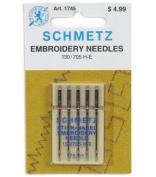 Schmetz Gold Titanium Embroidery Needles Size 90/14