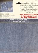 2 Pack Medium Blue 10cm x 10cm Iron on Patches - Strongest Iron on Denim Jean Patch