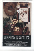 """Snowman Family Stuffed Doll """"Sticking Together"""" and Wall Hanging Craft Sewing Pattern"""