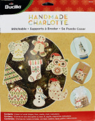Bucilla 86559 Handmade Wood Stitchable Shapes Kit, 7.6cm by 7.6cm , Set of 8