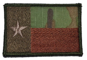 Texas State Flag Lone Star 2x3 Military Patch / Morale Patch - Multicam