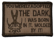 """Bane Speech """"You Merely Adopted the Dark"""" Dark Knight 2x3 Military Patch / Morale Patch - Multiple Colours"""