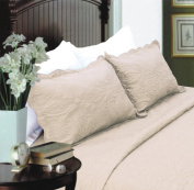 All For You 2-Piece Embroidered Quilted Pillow shams-standard size