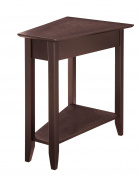 Convenience Concepts American Heritage Modern Wedge End Table, Espresso