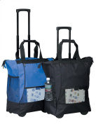 BLUE On the Go Rolling Shopping Tote w/ Wheels